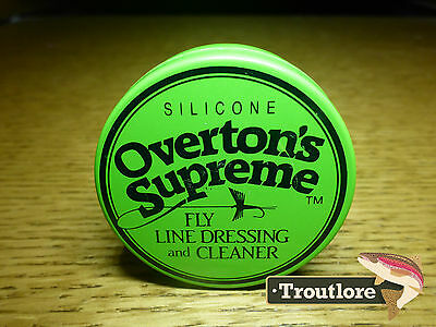 Overton's Supreme Fly Line Dressing And Cleaner New Fly Fishing Tying Materials