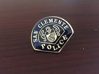 Defunct San Clemente Police Patch Tie Pin - CA - California - Orange County