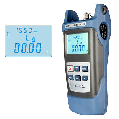 DC 9V/1000mA -70 ~ +10 dBm Portable Optical Power Meter SC/ FC/ ST Interfaces