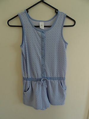 Target - Girls Pale Blue & White Print jumpsuit - size 9