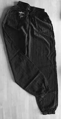Mens  Papillon Black Plastic Warm Up Dance Trousers Size Small New