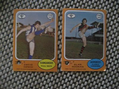 1973 Scanlens North Melbourne Roos and Essendon Bombers VFL/AFL Cards