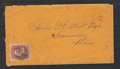 1862 US Cover To Somerville w Red Dated CDS