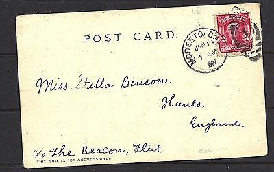 1907 US Yosemite Post Card Cover To England