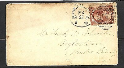 1884 US Cover To Bucks County