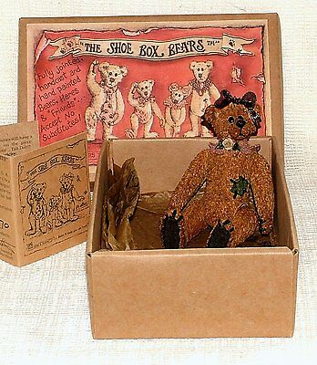 "BOXED Boyds Bears & Friends Shoe Box Bears GERTRUDE ""GERTI"" GRIZBERG 3201"