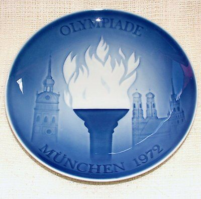 BING & GRONDAHL Olympics PLATE - MUNICH Olympic Games 1972