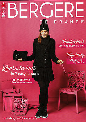 Knitting pattern book ~ Bergere no 175 learn to knit in 7 easy lessons