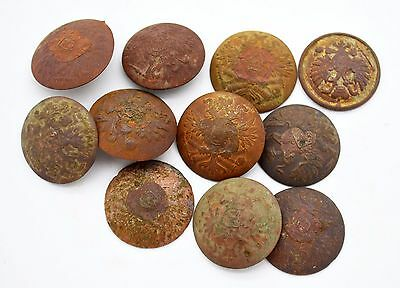WW1 Russian Imperial Uniform buttons