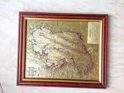 Framed picture of Ireland in foil effect sized 10x8