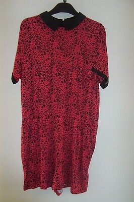 BNWT STUNNING LADIES RED ANIMAL PRINT playsuit SIZE 16 BY SOUTH