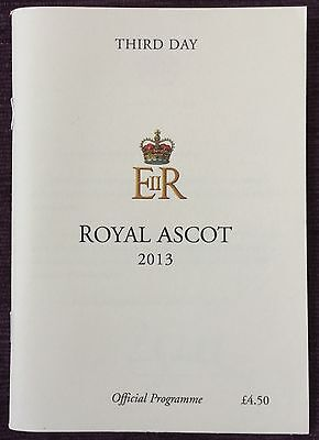 Signed Race Card 2013 Ascot Gold Cup *estimate* Signed Michael Stoute Genuine