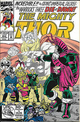 Marvel comics The Mighty Thor x3 issues from 1992 No's 454,455,456