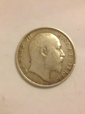 1904 One Rupee King Edward Vii India. Silver.