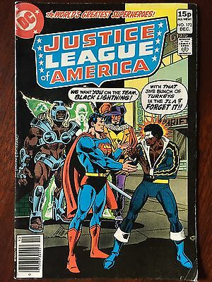 Justice League JLA Comic # 173 December 1979 Issue. FN+/VF Black Lightning. DC