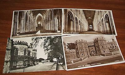 Castles and Cathedrals 4 postcards of some age in Great condition.