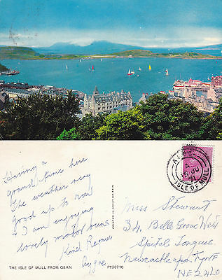 1971 The Isle Of Mull From Oban Scotland Colour Postcard