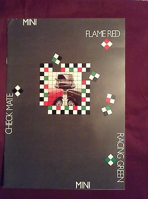 Mini Sales Brochure Flame Red Checkmate Racing Green