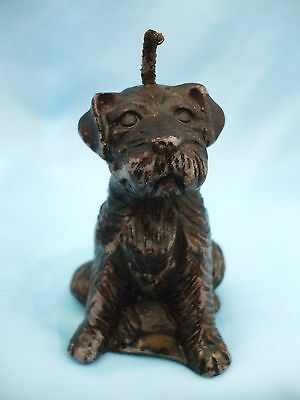 Collectable Black Terrier Dog Ornament Novelty Dog Candle