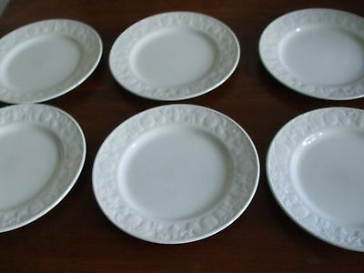 "Set of 6 BHS British Home Stores Dinner Plates Lincoln Pattern 10"" diameter"