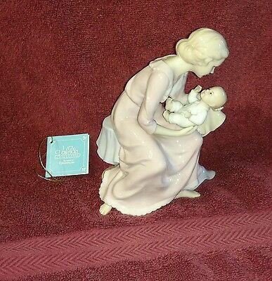 Roman Valencia Collection With All My Heart Mother Newborn Baby Figurine NIB
