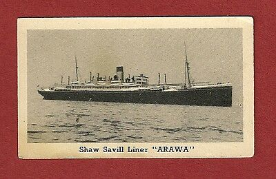 SHAW SAVILL LINER SS ARAWA 1939 Photocard  Spanish Troop Transporter as COLON