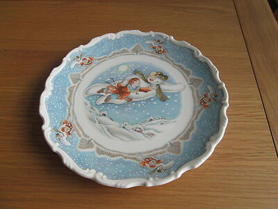 "Royal Doulton Walking In The Air Snowman Collectors Plate 8.5"" Wide"