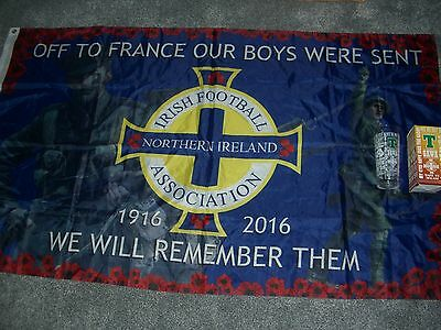 New Ulster Loyalist Flag And Glass, Northern Ireland, Somme Poppy Rangers Ifa