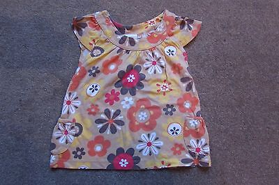 NEXT Baby Girls Retro Coloured Floral Smock Top age 9-12 months