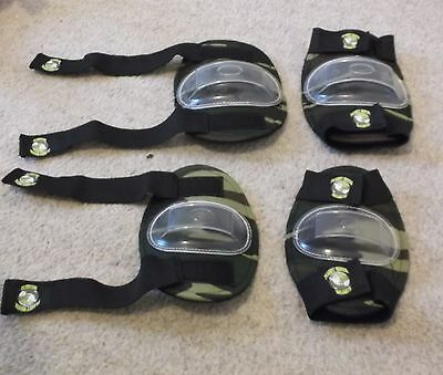 LOOK UNUSED! PLANET GREEN KNEE PADS (medium) & ELBOW PADS (small)   CLASS 1