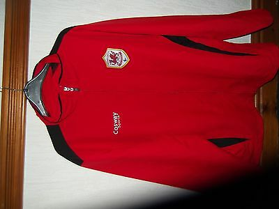 Men's Football Cardiff City Jacket Red XL by Cosway sportsVGC