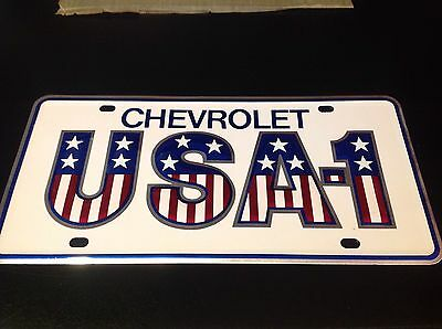 Chevrolet NOS USA 1 Raised Letter License Plate