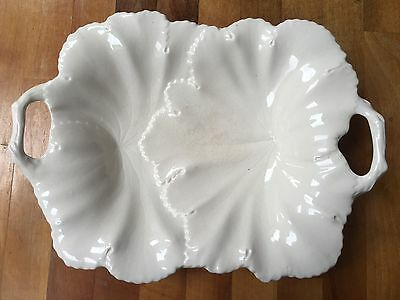 Copeland Spode White Leaf Platter with overlapping leaves