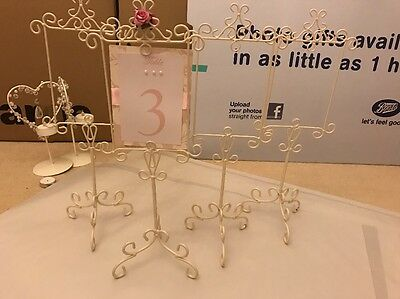Wedding Cream Table Number/ Place/name Holders X 4