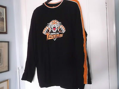 Wests Tigers Nrl  Long Sleeved Top Large Size