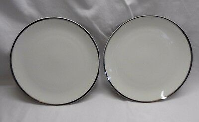 THOMAS GERMANY SILVER RIM 2 X SMALL PLATES 210mm