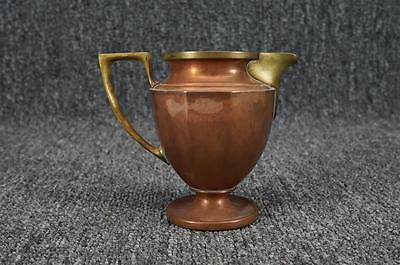 Vintage Copper Creamer With Brass Handle And Spout