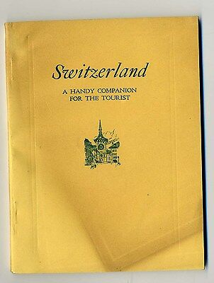 1920's Switzerland Handy Companion Booklet for Tourists Swiss Federal Railroads
