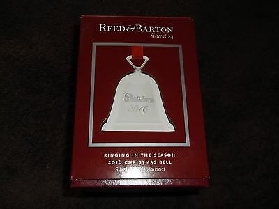 New in Box Reed & Barton 2016 Christmas Bell w Box Silverplate