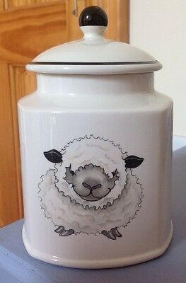 Arthur Wood ~ Back To Front Sheep Storage Jar With Lid