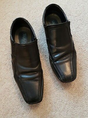 boys black leather formal school shoes m&s size 5 junior airflex antibacterial