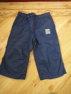 M&S Navy Cotton Shorts – Age 14 Years