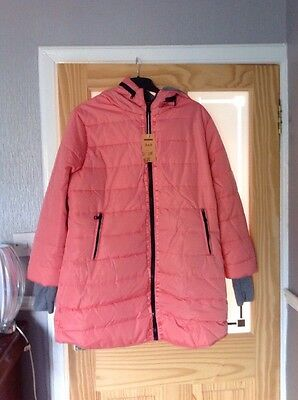 Ladies Brand New Size 18 Coral Padded Coat