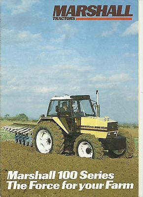 Sales Brochure for Marshall 100 Series Tractors