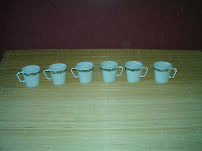 Vintage Pyrex Crazy daisy cups lot of 6