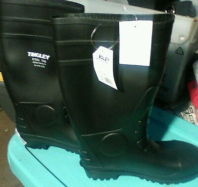 Tingley Rubber 31251.11 Steel-Toe Boots, Black PVC, 15 In., Men's Size 10