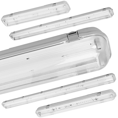 Set LED Moisture-proof Luminaire IP65 60cm/120cm/150cm incl. T8 G13