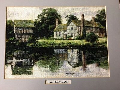 Completed Cross Stitch Old English Old English Country Thatched Cottage Water