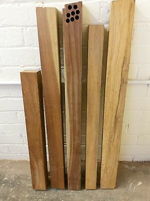 Solid Hardwood Bubinga and Others Mixed Timber Offcuts and Boards #4