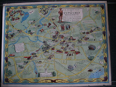 Mid-century map of Concord, Mass.